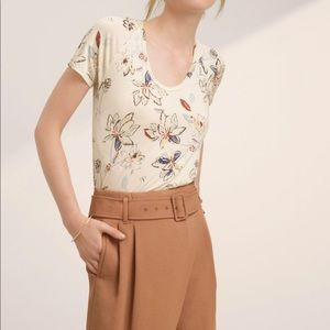Aritzia Wilfred Tandis T-Shirt Floral